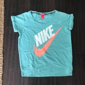 Nike retro short sleeve sweatshirt